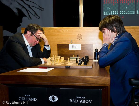 1ª ronda candidatos 2013 Gelfand vs Radjabov