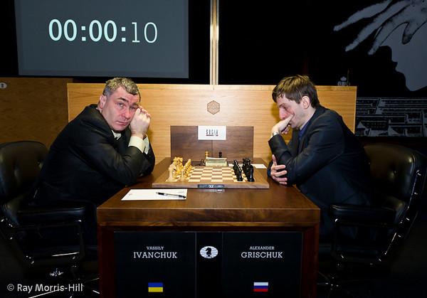 1ª ronda candidatos 2013 Ivanchuk vs Grischuk