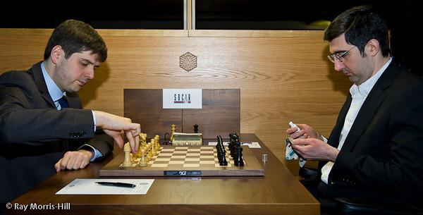1ª ronda candidatos 2013 Svidler vs Kramnik