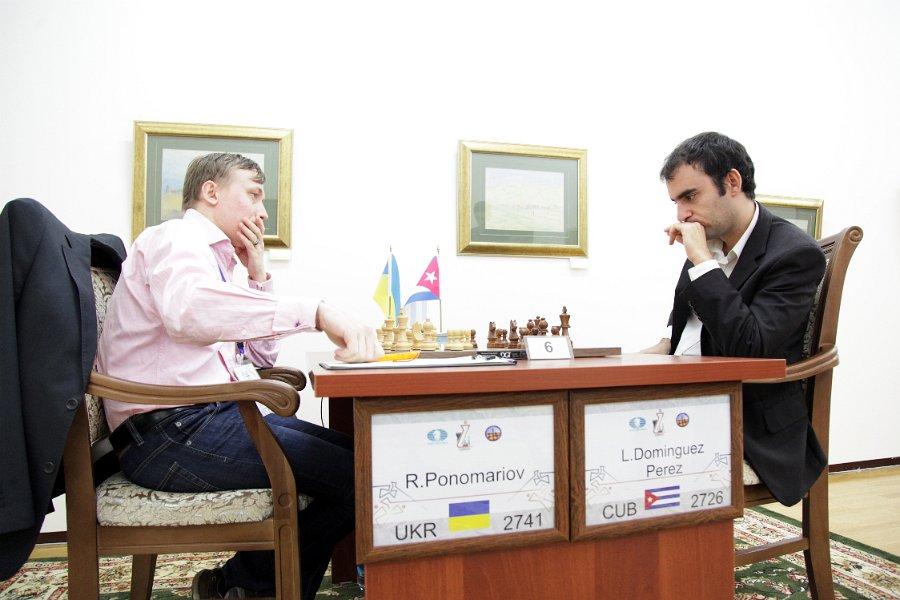 Ponomariov gana su partida a Leinier Dominguez