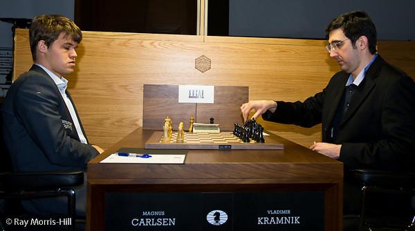 2ª ronda candidatos 2013 Carlsen vs Kramnik