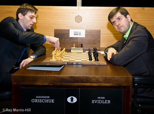 2ª ronda candidatos 2013 Grischuk vs Svidler