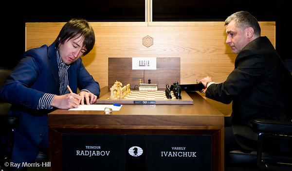 2ª ronda candidatos 2013 Radjabov vs Ivanchuk