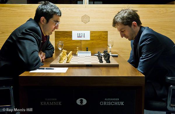 3ª ronda torneo candidatos 2013 ajedrez Kramnik vs Grischuk