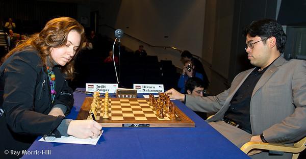 5ª ronda London chess classic 2012 Judit Polgar vs Nakamura