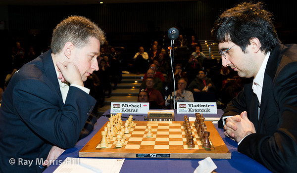 9ª ronda London chess classic 2012 Adams vs Kramnik