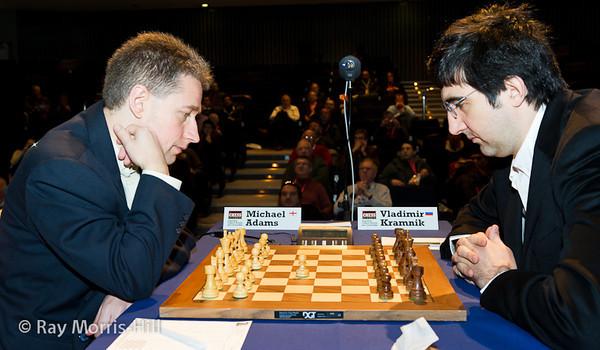 9ª ronda London chess classic 2012 Adams vs Kramnik