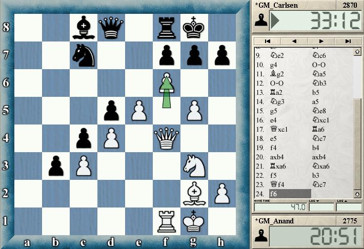 partida 9 jugada24 mundial de ajedrez 2013