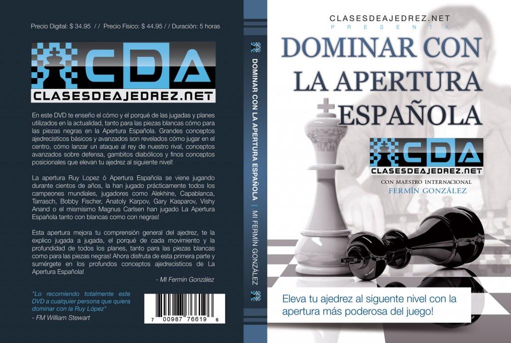 Apertura española DVD partidas de ajedrez