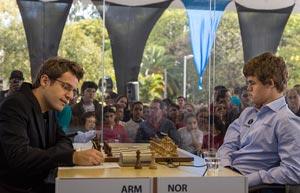 Carlsen Aronian cuarta ronda bilbao chess masters 2012