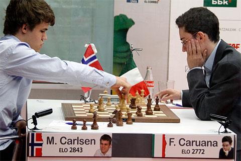 Carlsen Caruana chess masters bilbao 2012