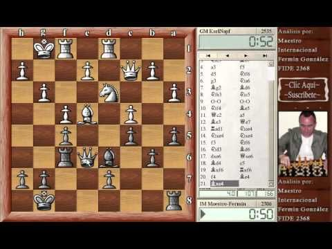 Ajedrez online chess GM Karlnapf vs Fermin Gonzalez