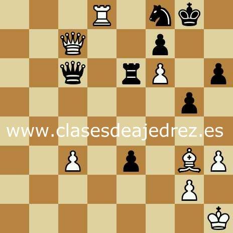 Problemas de ajedrez blancas ganan