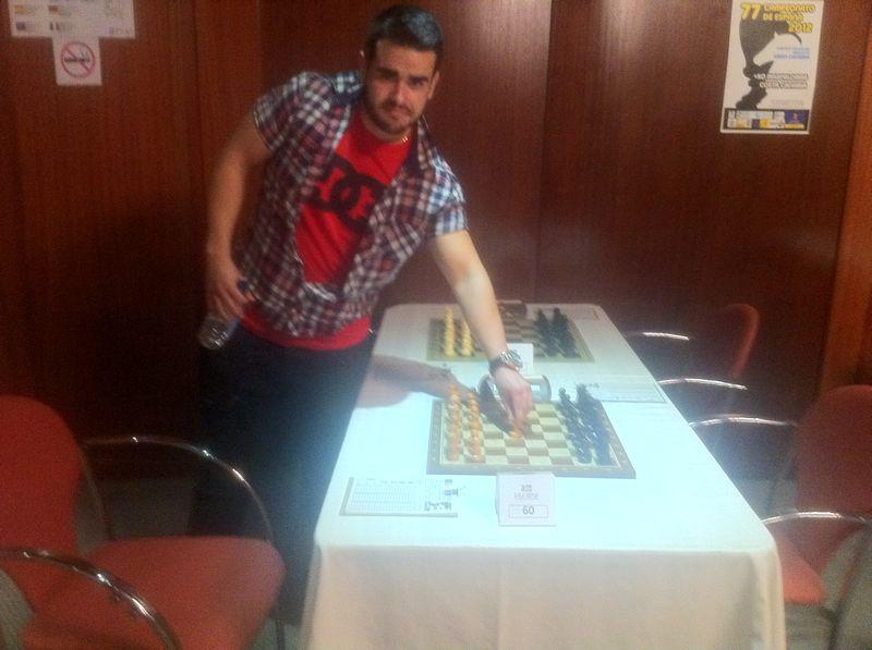 Campeonato de españa de ajedrez 2012 6 ronda lderes Korneev y Alvar