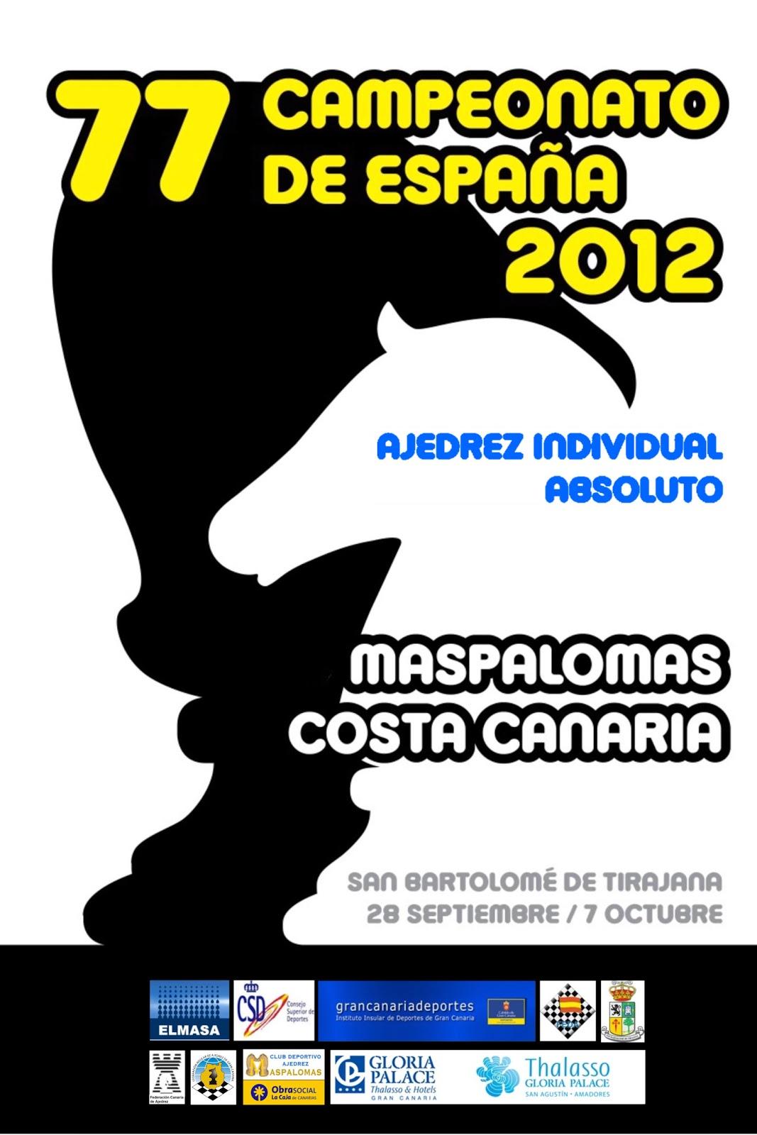 Campeonato de España de ajedrez 2012 Maspalomas Gran Canaria