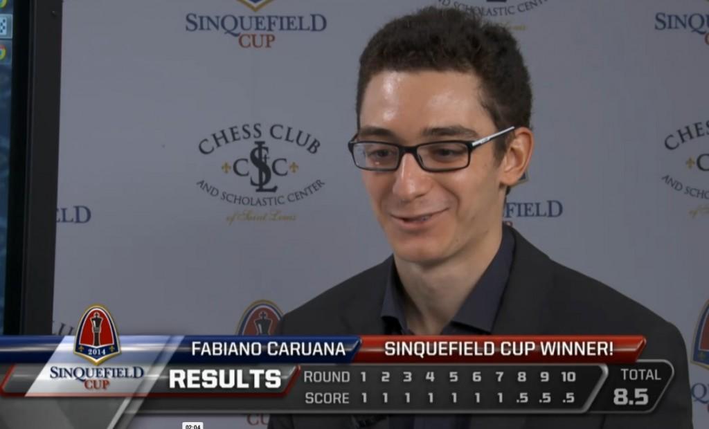 Caruana gana la Copa Sinquefield 2014