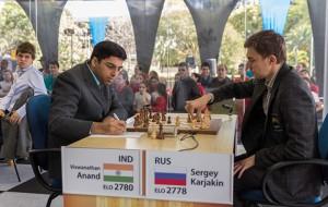 cuarta ronda bilbao chess maters 2012 karjakin Anand