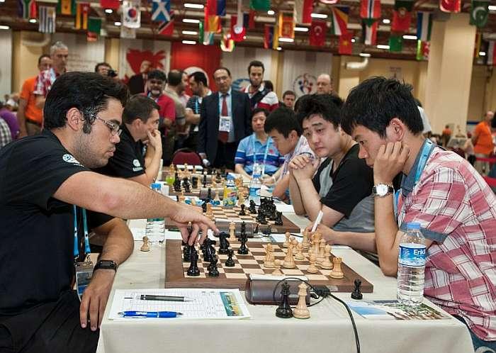 EEUU vs China Olimpiada ajedrez 2012