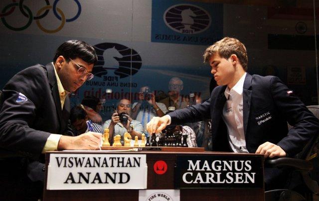 Partidas Anand Carlsen 2013 Partidas del mundial de ajedrez entre Anand y Carlsen
