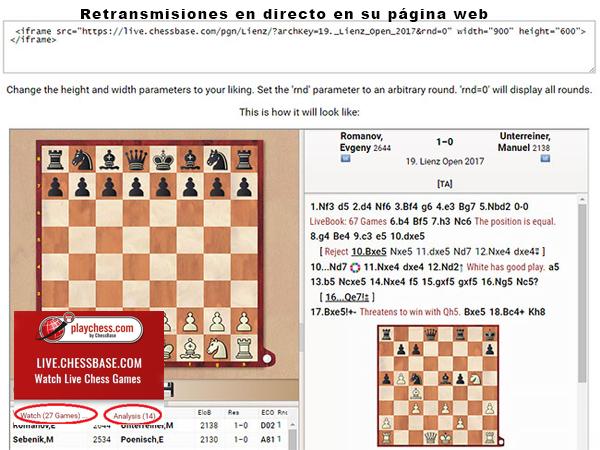 Partidas de ajedrez online gratis partidas de ajedrez actuales