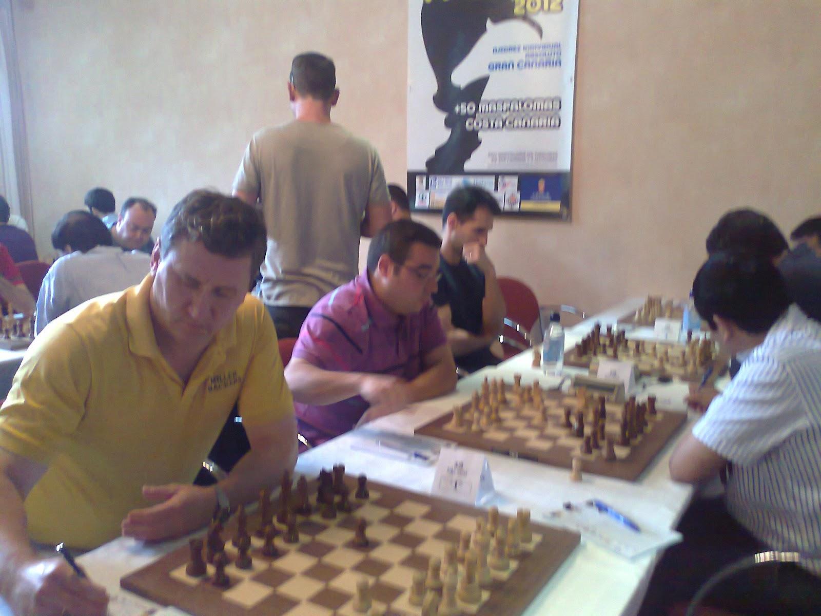 Quinta ronda Campeonato de España de ajedrez 2012 en Maspalomas