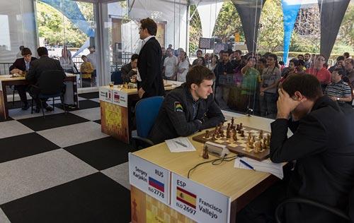 quinta ronda chess masters bilbao 2012 Vallejo Karjakin