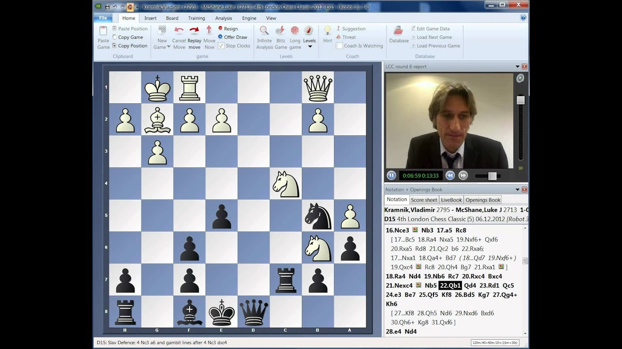 Quinta ronda del Clásico de ajedrez de Londres 2012 London Chess Classic 2012