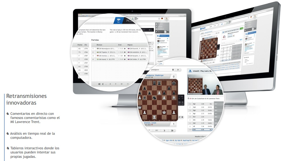live chess broadcasts