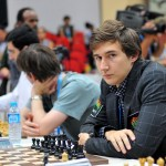 Karjakin in the seventh round of the Olympiad