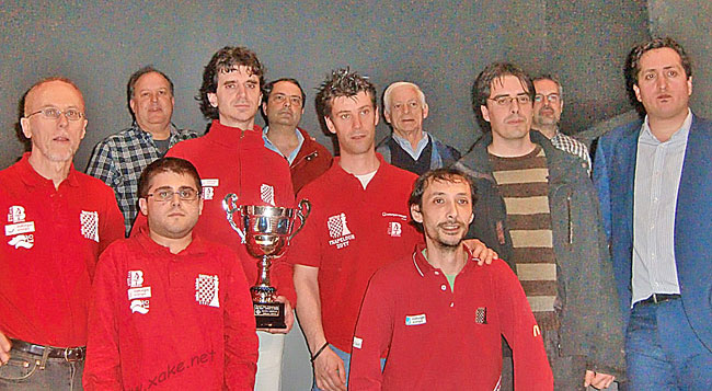 SESTAO Naturgas Ajedrez Campeón de la liga Vasca de ajedrez 2013