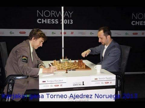 Torneo de Ajedrez Noruega 2013 Karjakin Campeón de Noruega 2013
