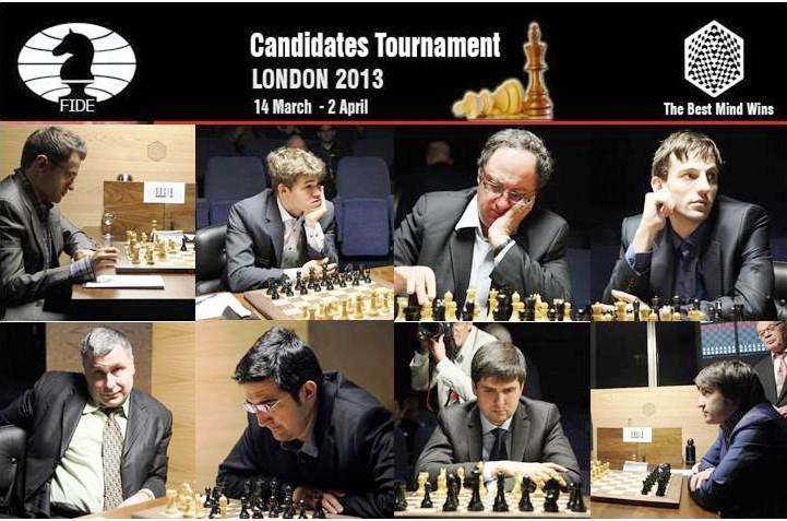 Torneo de Candidatos ajedrez 2013 Partidas 4 ronda del Torneo de Candidatos 2013