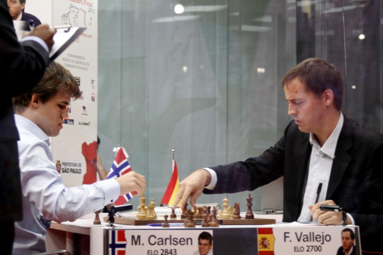 Vallejo vs Caruana en bilbao chess masters 2012